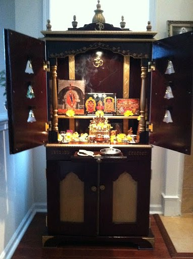 Mandir sl 24 this mandir is sold mandir for your home for Design of mandir in living room